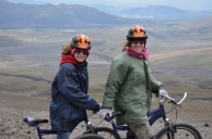 Riding down a volcano, Ecuador