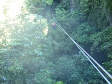 Zipline to the cave